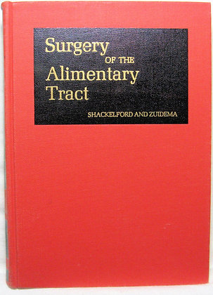 Surgery of the Alimentary Tract (Vol. 1) 1986