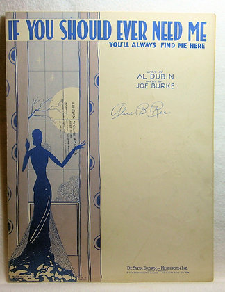 IF YOU SHOULD EVER NEED ME 1931