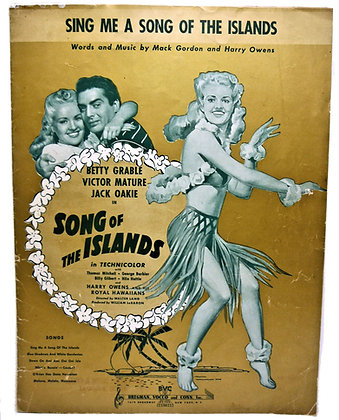 Sing Me a Song of the Islands by Betty Grable 1942
