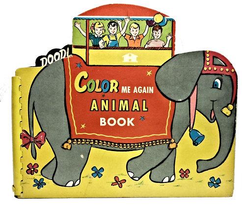 Color Me Again Animal Book 1957