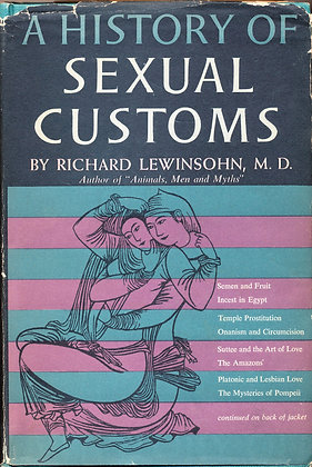 History of Sexual Customs 1958