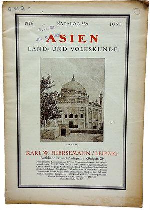 Katalog 539 Asien Land Und Volkskunde (German)