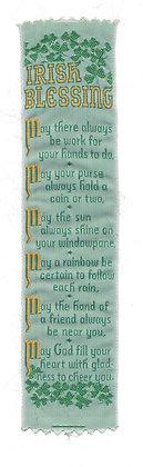 Lovely Irish Blessing Bookmark (ca. 1940)