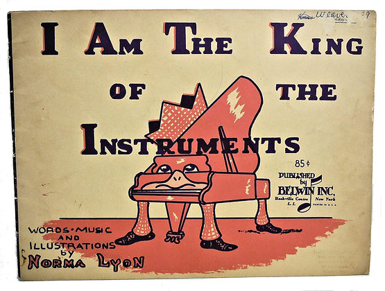 I am the King of the Instruments (piano) 1959
