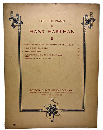 For the Piano by Hans Harthan 1926
