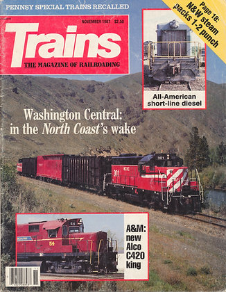 TRAINS, November 1987