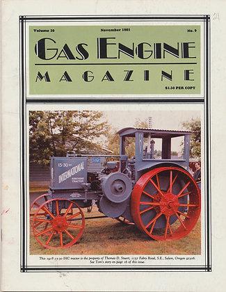 Gas Engine Mag.  November 1985