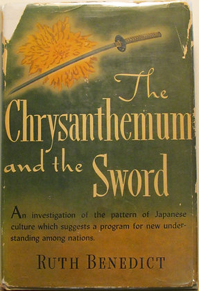 The Chrysanthemum and the Sword by RUTH BENEDICT 1946 (w/Jacket!)