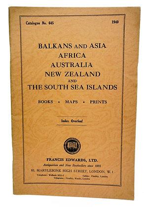 Balkans & Asia, Africa, etc. Books, Maps, Prints (No. 645) 1940