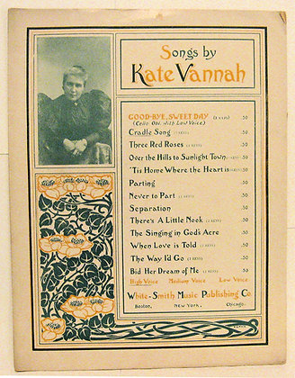 CRADLE SONG Songs by Kate Vannah 1895