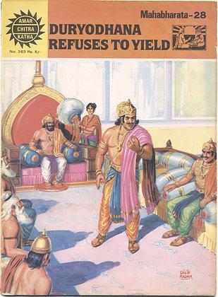 DURYODHANA REFUSES TO YIELD Mahabharata-28, No. 383 (AMAR/CHITRA/KATHA)