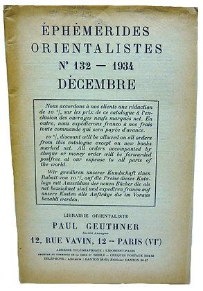 Ephemerides Orientalistes No. 132 - 1934 (French)