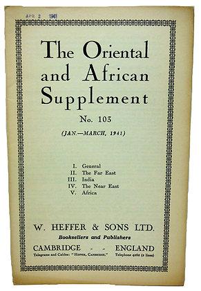 Oriental & African Supplement #103 - 1941