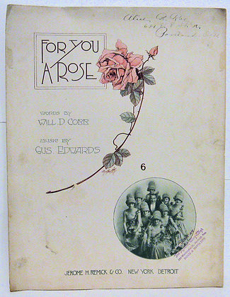 FOR YOU A ROSE  WILL D. COBB 1917