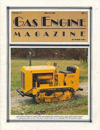 Gas Engine Mag.  March 1986