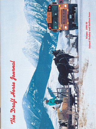 Draft Horse Journal Winter 1994-95