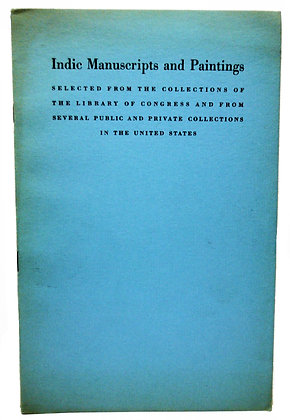 Indic Manuscripts and Paintings 1939