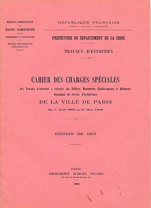 Cahier Des Charges D'Architecture Paris (French)