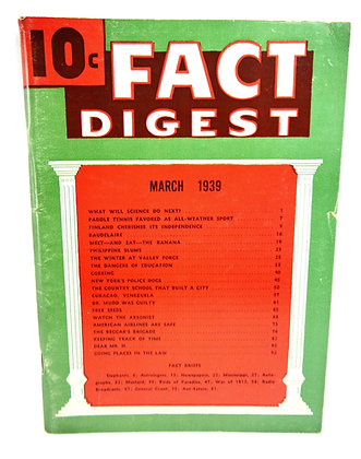 Rodale Fact Digest March 1939