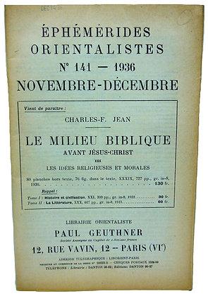 Ephemerides Orientalistes No. 141 - 1936 (French)