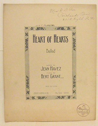 HEART OF HEARTS (BALLAD) 1922