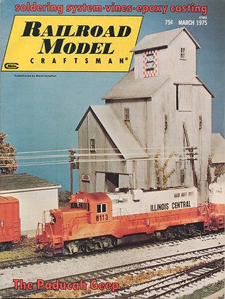 Railroad Model Craftsman, March 1975