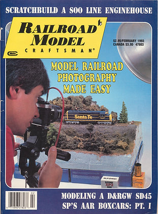 Railroad Model Craftsman, February 1993