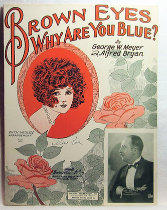 BROWN EYES WHY ARE YOU BLUE? (Ukulele) 1925