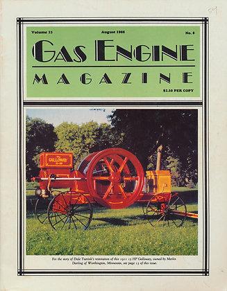 Gas Engine Mag.  August 1988