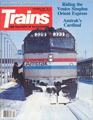 TRAINS, December 1990