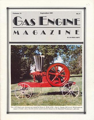 Gas Engine Mag.  September 1987