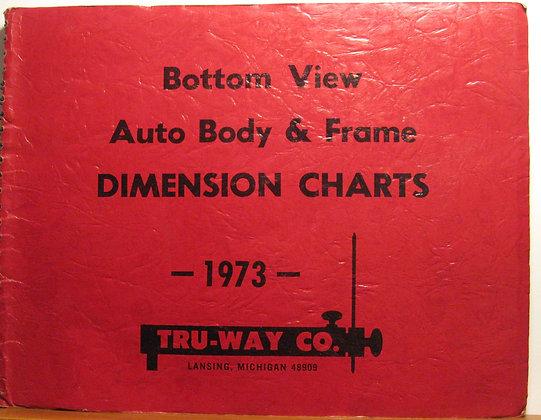Bottom View Auto Body & Frame Dimension Charts 1973