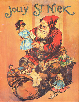 """Jolly St. Nick"" story book (ca. 1980) Exact Replica Original 1940s"