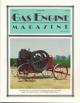 Gas Engine Mag.  October 1992