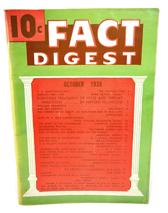 Rodale Fact Digest October 1938