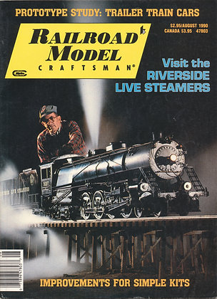 Railroad Model Craftsman, August 1990