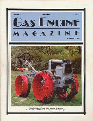 Gas Engine Mag.  July 1988