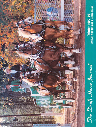 Draft Horse Journal Winter 1992-93