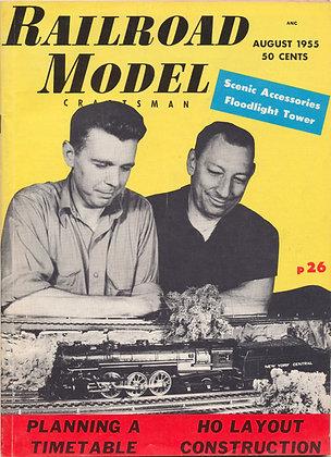 Railroad Model Craftsman, August 1955