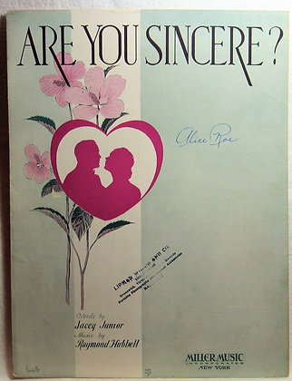Are You Sincere? Jacey Junior 1931