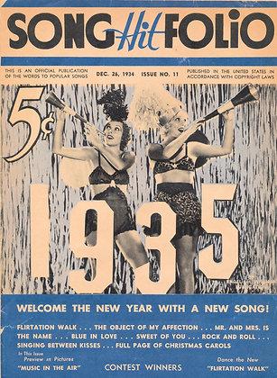 Song Hit Folio, No. 11, December 1934