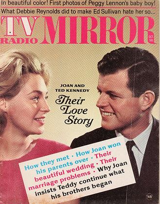 TV Radio Mirror, JOAN & TED KENNEDY, October 1968