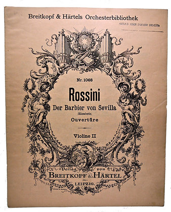 Rossini Der Barbier von Sevilla (German) 1890