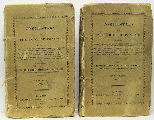 COMMENTARY on THE BOOK OF PSALMS (Two Volumes) 1824