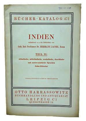 Bucher Katalog 471 Indien 1938 (German)