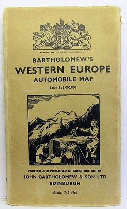 Barthomew's Automobile Map of Europe 1952