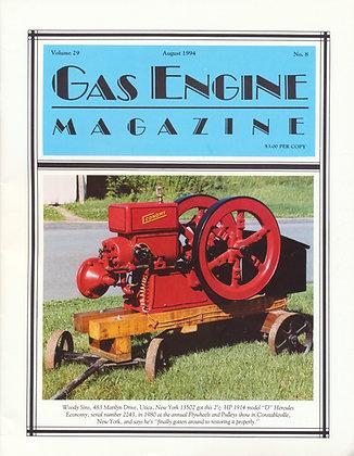 Gas Engine Mag.  August 1994