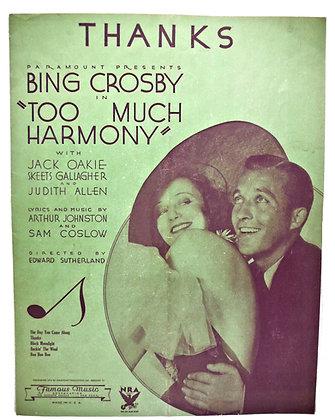 THANKS Bing Crosby 1933