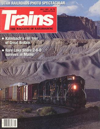 TRAINS, July 1991