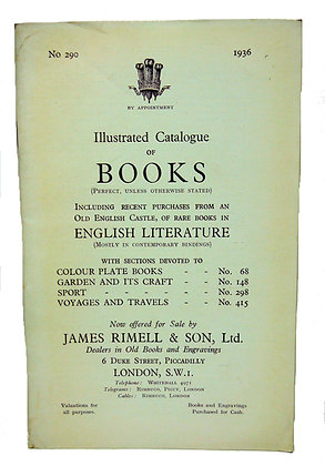 Illustrated Catalogue of Books (No. 290) 1936